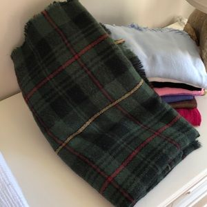 Forest green plaid scarf